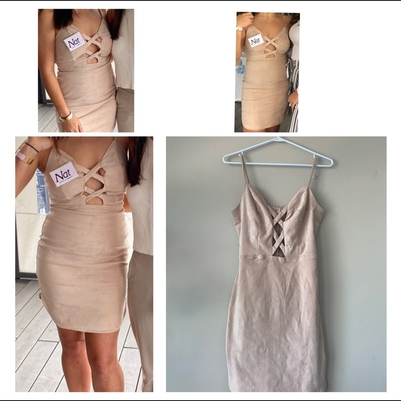 Midi Nude Soft Dress Charlotte Russe